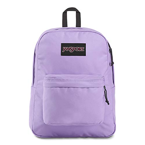 JanSport Black Label Superbreak Backpack - Lightweight School Bag | Purple Dawn