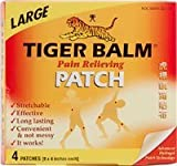 Tiger Balm Patch, Large, Pain Relieving Patch, 4-Count Packages, (Pack of 6), Health Care Stuffs