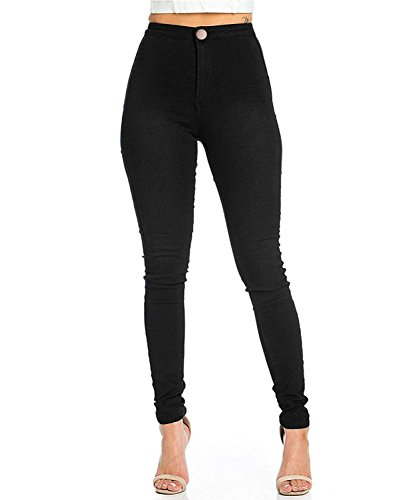 Z.M High Waisted Pants Skinny Jeans For Women Stretch Pencil Pants Curve Jeggings Leggings,Black,Medium
