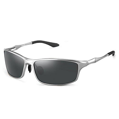 (Men's Women's UV400 Polarized Driving Sports Metal Frame Sunglasses)