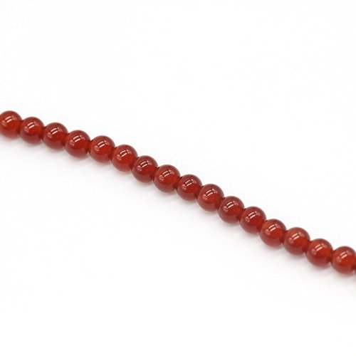 Beautiful Bead Natural AAA Quality Red Agate Fire Quartz Gemstone Gem Round Loose Beads for Jewelry Making 8mm x 1 ()