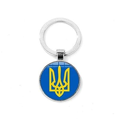Amazon.com: Llavero con el símbolo de Tryzub de Ucrania ...