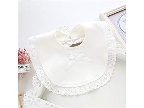 Delantal para niños pequeños Patrón de encaje lindo niño pequeño toalla de saliva bebé babero Drool