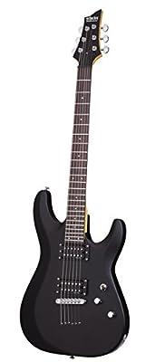 Schecter 430 C-6 Deluxe Solid-Body Electric Guitar, Satin Black