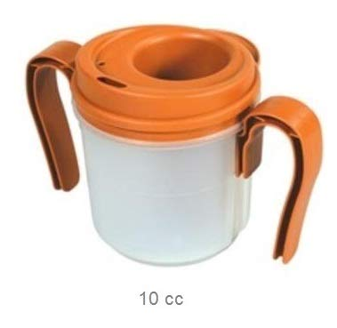 PROVALE Regulating Drinking Cup 10cc Dispenser - with two removable handles - Brown by Rolyn Prest
