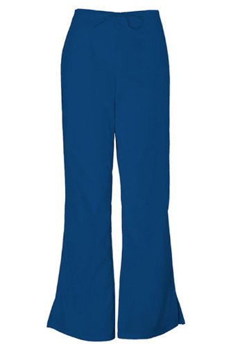 Cherokee Workwear Scrubs 4101 Low Rise Flare Leg Scrub Pant (Navy, 3XL) Tall Low Rise Flare Pant