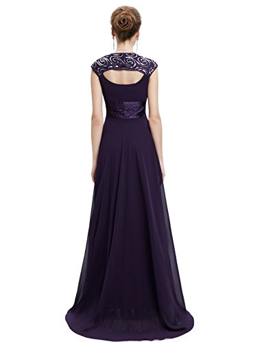 Ever-Pretty Womens Sleeveless V Neck Open Back Long Evening Gown 14 US Purple by Ever-Pretty (Image #2)