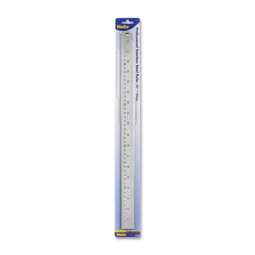 Wholesale CASE of 25 - Helix Stainless Steel Professional Rulers-Professional Ruler, 18'', Stainless Steel by HLX