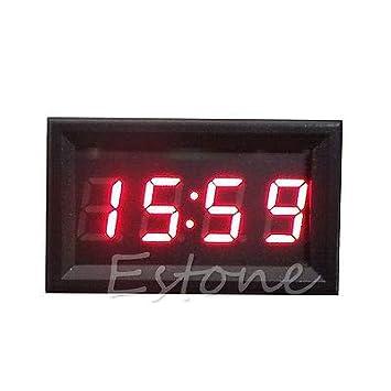 FidgetFidget Dashboard Digital Car Motorcycle Accessory 12V/24V Clock LED Display Green