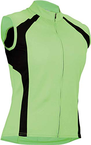 Cannondale Women's Classic Sleeveless Jersey, Lime Frost, Medium