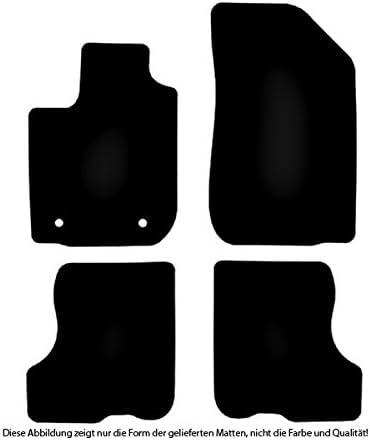 Passgenau f/ür Modell Siehe Details B/är-AfC DA06122n Exclusive Line Auto Fu/ßmatten Velours Schwarz Stick Logo Blau Rand Kettelung Blau Set 4-teilig
