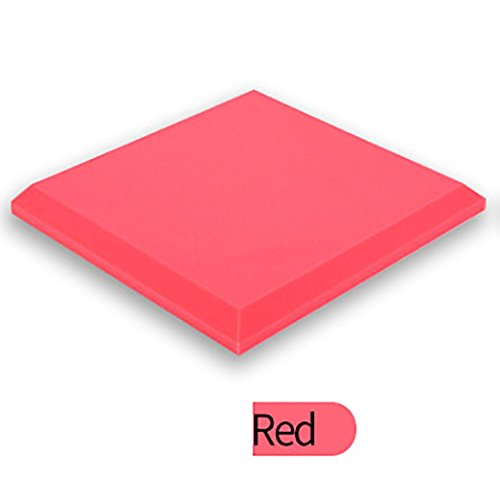 Sound Foam Panels,vmree Acoustic Studio KTV cancelling Foam Panel soundproof Absorption Sponge (Red)