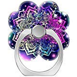 Cell Phone Ring Holder Cellphone Finger Stand 360 Degree Rotation Work for iPhone X 6 7 8 Plus S8 S9 Smartphone Tablet-Namaste Galaxy Mandala