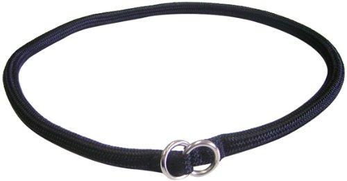 Hamilton 829 BK 5/16-Inch by 20-Inch Round Braided Choke Nylon Dog Collar, Black