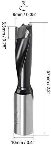Brad drill bits for HSS wood with 9mm x 57mm front turning for carpentry woodworking drilling tool