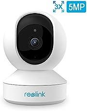 Reolink PTZ WLAN Kamera innen mit Schwenk-/Neigefunktion und 3X optischem Zoom, 5MP HD Überwachungskamera WiFi Indoor mit Zweiwege-Audio, Nachtsicht und Bewegungserkennung, E1 Zoom