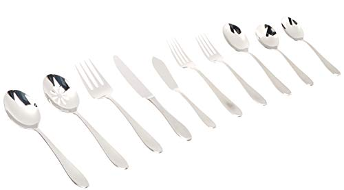 (Mikasa 5227455 Prescott Satin Flatware Set, One Size, Stainless Steel)