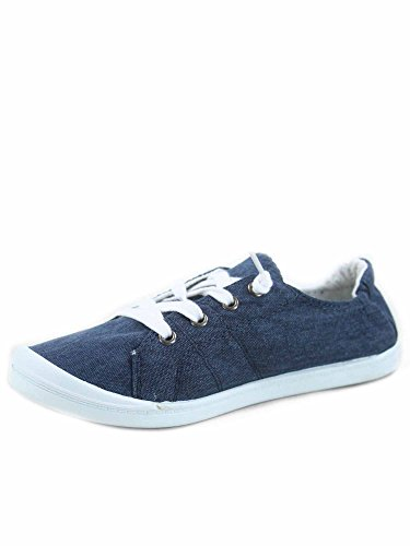 Blue Slip Heel Soda Causal Lace up Sneaker Look Shoes On Zig Women's Flat s qxOYYp1Z