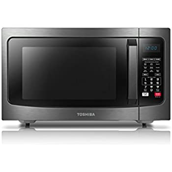 Toshiba EC042A5C-BS Convection Microwave Oven, 1.5 Cu.ft, Black Stainless Steel