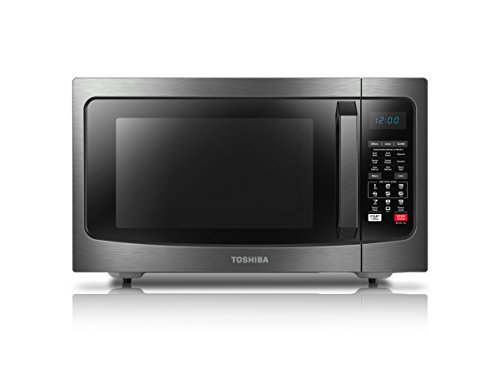 Cheap Toshiba EC042A5C-BS Microwave Oven with Convection Function Smart Sensor and LED Lighting, 1.5 Cu.ft, Black Stainless
