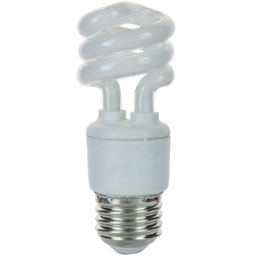 Sunlite SMS7/27K SMS7/27K 7-watt Super Mini Spiral Energy Saving Medium Base CFL Light Bulb, Warm White