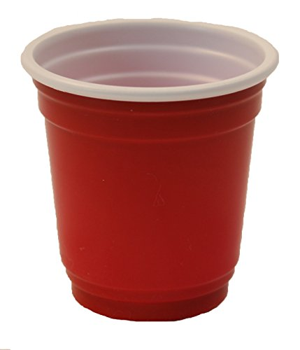 Mini 2 Oz. Plastic Drink, Shot, Pong, Tasting Cups (40Ct) (Red)