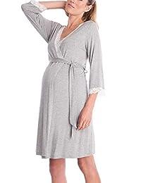 BIUBIONG Maternity Pregnancy Labor Robe Delivery Hospital Nursing Nightgowns Sleepshirts for Breastfeeding
