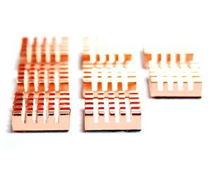 Lost ocean Copper VGA RAM Cooling Heatsinks cooler and Cable Tie(8 PCS ) by Lost Ocean (Image #4)