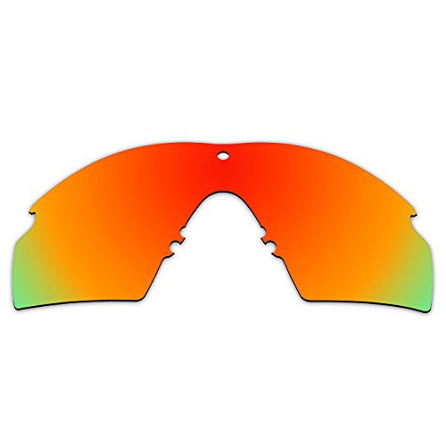 ACOMPATIBLE Replacement Lenses for Oakley Industrial M Frame 2.0 (2016 Year) Sunglasses OO9213 (Fire Red - - Lenses Red Oakley