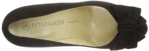 Peter Kaiser SAMOS 96125-240 - Zapatos de tacón de cuero para mujer, color negro, talla 34.5 Negro (Schwarz (SCHWARZ SUEDE 240))