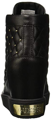 Womens nero Guess High Black Boots nero Furr BCwtqtn78
