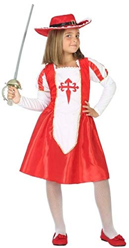 Girls Red Medieval Musketeer World Book Day Fancy Dress Costume Outfit 3-12 Years ... (3-4 Years)