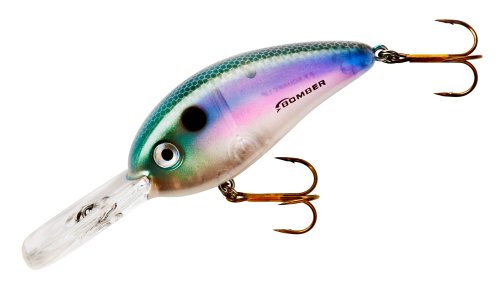 Bomber Fat Free Square Lip Lures, Melon Shad, 2.5-Inch