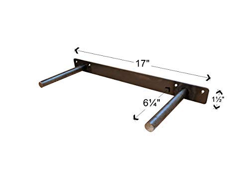 18 Inch Floating Shelf Bracket - Hidden Shelf Bracket with 150 LB Weight Capacity - Invisible Design for Shelves 18 Inches and Longer - Heavy Duty 3/4 Inch Solid Steel Support Rods - Made in The USA