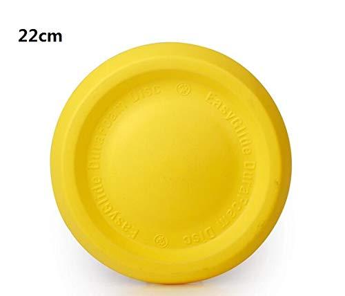 SKNSM Creativo Disco Rotondo per Cani Frisbee Volante Disco per Cani all'aperto (Circa.22cm Giallo)