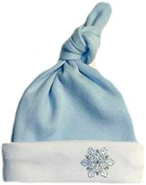 Jacqui's Baby Boys' Blue Snowflake Knotted Hat 7 Sizes