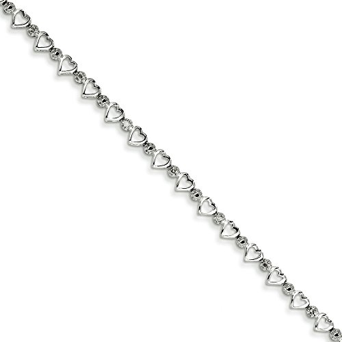 Argent Sterling diamant JewelryWeb-Bracelet