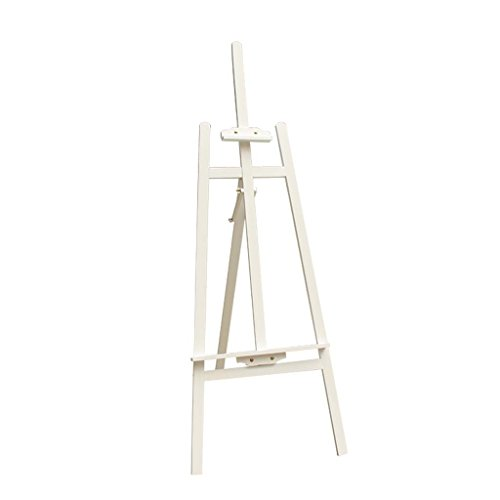 Easels Professional Wooden Art Display Canvas Painting 150Cm Tall Adjustable Wood For Adults - Easy To Assemble - Fits Small And Large Canvases Exhibition,White ()