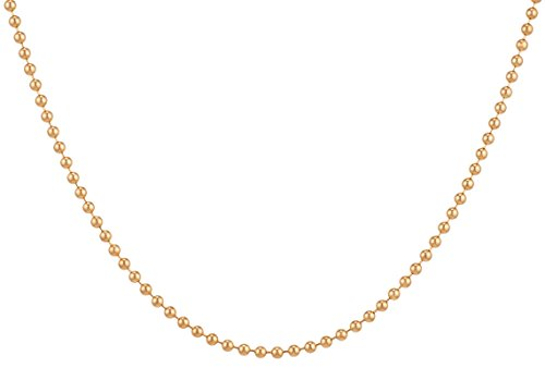 14Kt Gold-Filled Ball Chain Necklace 1.5 mm (Ball Pendant 14kt Gold Jewelry)