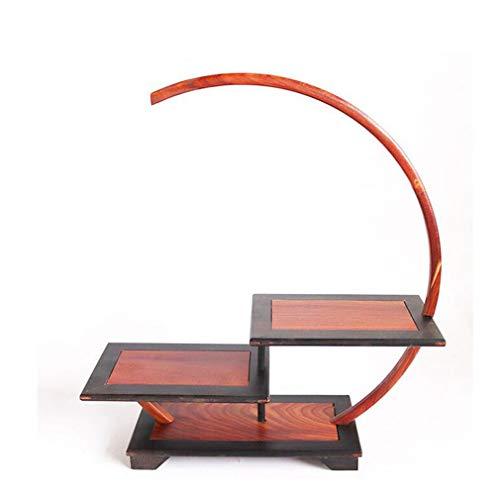 Tea Set Teapot Shelf, Antique Decorative Frame Multi-Layer Purple Sand Pot Holder Antique Rack Business Gift Display Shelf