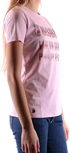 PHILIPP PLEIN Luxury Fashion Donna S19CWTK1258PJY002N03 Rosa Cotone T-Shirt | Stagione Outlet