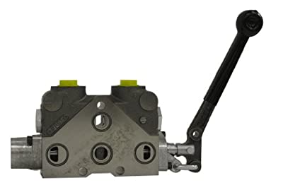 Prince 20P1DD1DD Hydraulic Directional Control Valve Parallel Work Section, Shim Adjustable Relief 1751-2200 psi, 4 Way, 4 Position with Float, 4 Ports, Float Detent, Cast Iron, Standard Lever Handle, #10 SAE from Prince Manufacturing