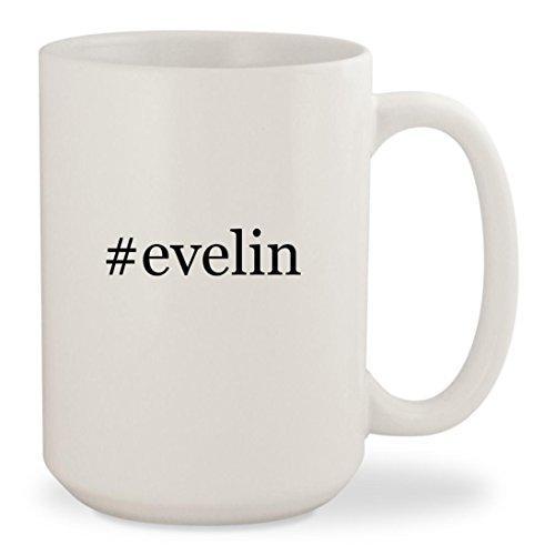 #evelin - White Hashtag 15oz Ceramic Coffee Mug Cup