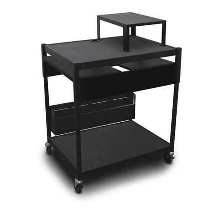 Adj Cart, 2 Shelf, Bin, Exp Shelf, Elec