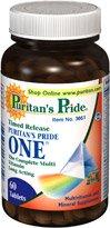 La fierté de Puritan un multi-vitamine Time Release 60 comprimés enrobés 1 bouteille
