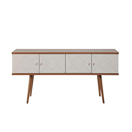 Manhattan Comfort 1014652 Trinity Midcentury Modern Dining Room Sideboard, Maple Cream ()