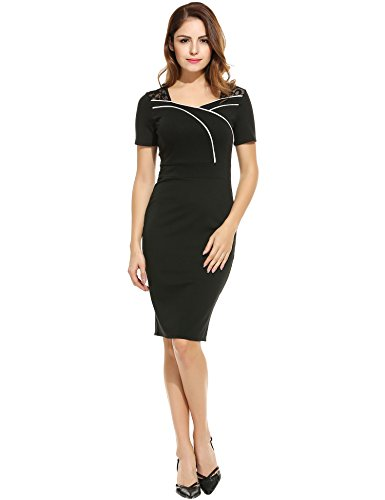 ANGVNS Womens Ruffles Business Cocktail