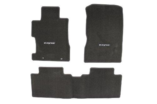 500 Carpet 4 Door Sedan - Genuine Honda Accessories 08P15-SNA-120B Gray Floor Mat for Select Civic Models
