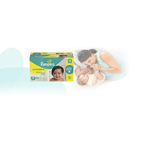 Pampers Swaddlers Disposable Baby Diapers Size 5, 132 Count, ONE MONTH SUPPLY