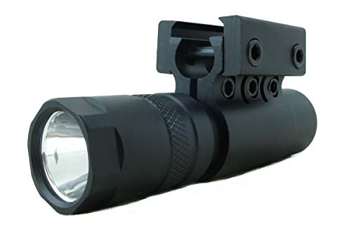(Monstrum Tactical 90 Lumens LED Flashlight with Rail Mount and Detachable Remote Pressure Switch)